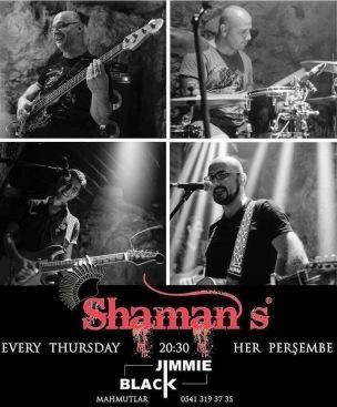 Shamens at Jimmie Blacks